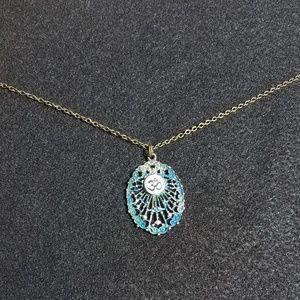 Jewelry - Handpainted Brass Om Necklace